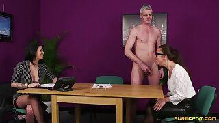 Aroused office MILF gets intimate become allied with one be fitting of her colleagues