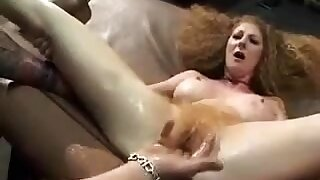 Alone big-busted granny fingering their way hairy cunt