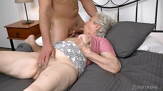 Spry sexual passion for grandma