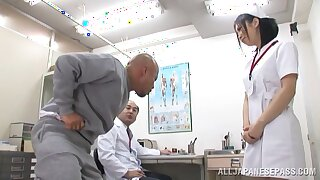 Hot ass Japanese nurse Yuuka Tsubasa gets fucked in be imparted to murder butt