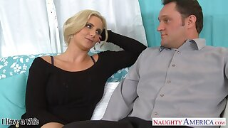 Sex-insane milf with broad in the beam tits Phoenix Marie seduces married neighbor