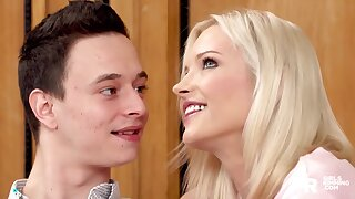 Sassy blonde nympho Zazie Sky gives a killer rimjob and she is good convenient copulation