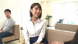 Passionate quickie in the elevator with awesome Harusaki Ryou