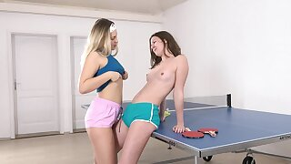 Lesbian pussy licking about sexy Selvaggia and Alessandra Amore
