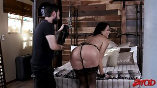 Submissive fit together Reagan Foxx enjoys being tied up, spanked and fucked