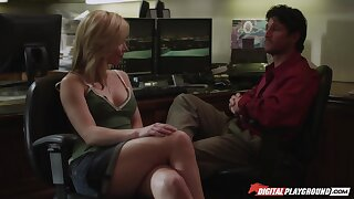 Incredibly hot with an increment of charming MILF is fond of brutal sideways banging