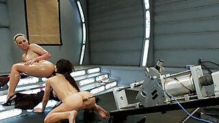 Amazing fetish xxx video with fabulous pornstars Amy Brooke and Phoenix Marie from Fuckingmachines