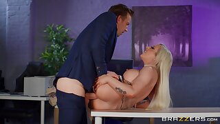 Big breasts sinner Skyler McKay fucked hard in the office