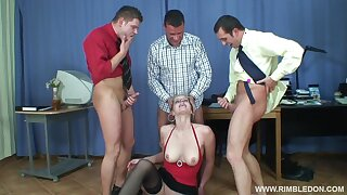 Hardcore gangbang in the tryst with controversial blonde Alana C